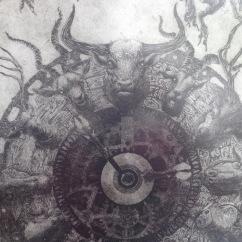 """Emiliano Martínez, """"Behemoth/Los Caminos de Dios""""(detalle), 2015"""