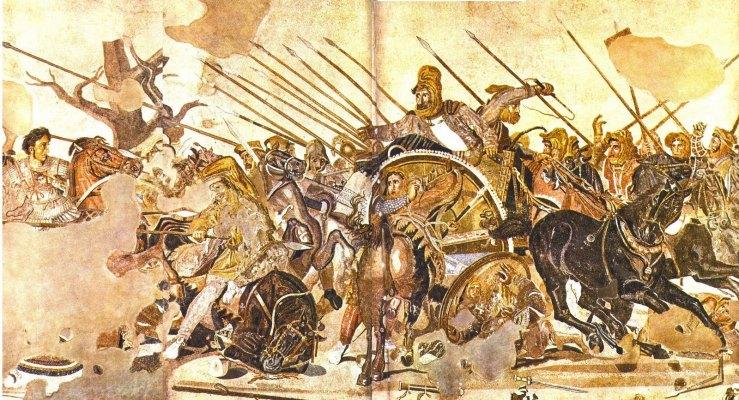 Batalla de Issos Mural descubierto en Pompeya que muestra a Alejandro Magno dominando a Dario III