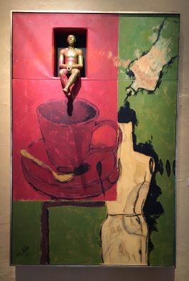 """Marcela Lobo, """"Figura entre maniquí y taza"""", 2013"""