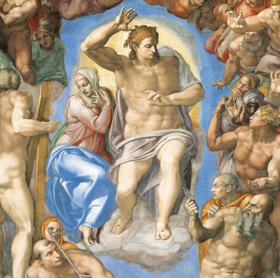 Michelangelo Buonarroti, Il Giudizio Universale (El Juicio Universal), 1537-1541 (detalle)
