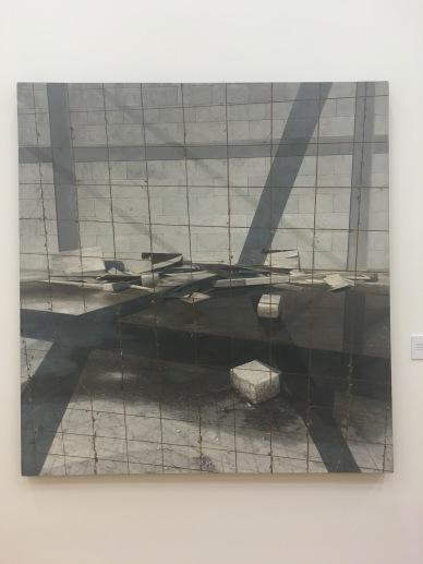 """Joaquín Flores Rodriguez, """"Obra Negra"""", 2016, óleo sobre lino"""