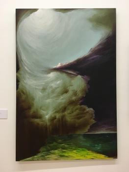 """David V, Hernández, """"Enfoques Adyacentes"""", 2016, óleo sobre tela"""