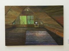 """Jonas Lerin Ridone, """"Cuarto"""", 2016, óleo sobre madera"""