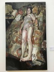 """Juan Bernardo López Aros, """"Desnudo con osos"""", 2016, acrílico sobre lienzo"""
