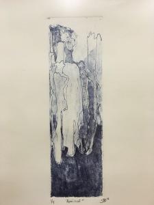 """Sebastián Dominguez Narinián, """"Aparición"""", 2016, aguafuerte y aguatinta"""