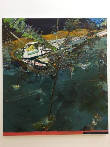 "Agustín González, ""Astronauta"", 2016, óleo sobe tela"