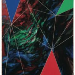 Javier Peláez, Topología RGB, acrílico sobre MDT y grabado
