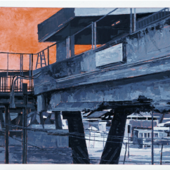 Itzamna Hugo Reyes, Sin título (Paisaje #22), óleo sobre tela, 2016