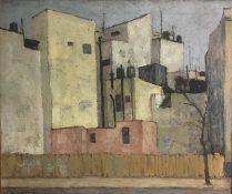 Enrique Echeverría, Casas en Insurgentes, Óleo, 1954