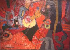 Enrique Echeverría, Reminiscencia del paisaje, Óleo, 1962