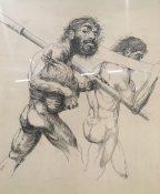 Enrique Echeverría, Sin título (estudio), Tinta sobre papel, 1948