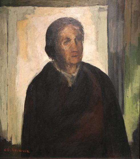 Enrique Echeverría, Señora Florecita (Doña Flor), Óleo, 1955