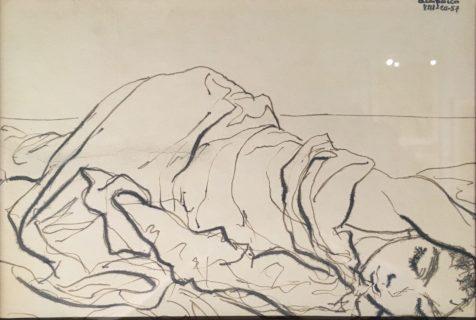 Enrique Echeverría, Acapulco, Tinta sobre papel, 1957