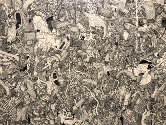 Javier Arjona, Medical Gaze, Tinta y grafito, 2018
