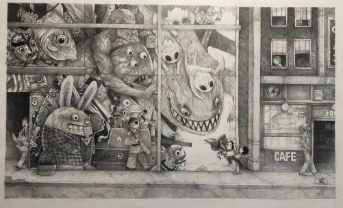Carlos Vélez Aguilera, Perdido en la calle Tiempo, Grafito, 2016