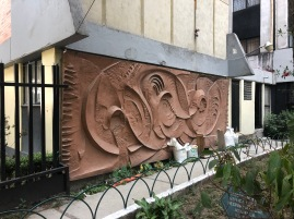 """José Hernández Delgadillo. Escultomural en la Unidad Habitacional Morelos """"Los Soldominios"""". Fotografía: Cuauhtémoc Islas"""